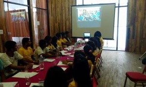 During the National Youth Conference 2015 : Tele Conference with UNCON Team